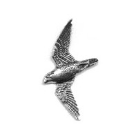 A R Brown Peregrine Pewter Pin Badge