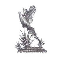 A R Brown Pheasant Pewter Sculpture
