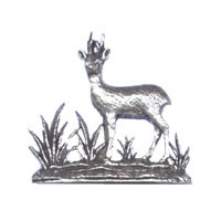 A R Brown Roebuck Pewter Sculpture