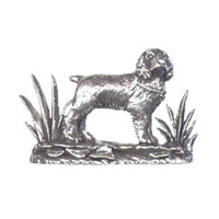 A R Brown Spaniel Pewter Sculpture