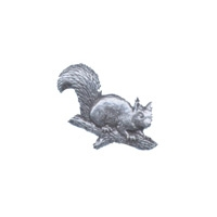 A R Brown Squirrel Head Pewter Pin Badge