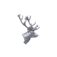 A R Brown Stags Head Pewter Pin Badge