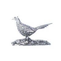 A R Brown Standing Pheasant Large Pewter Sculpture