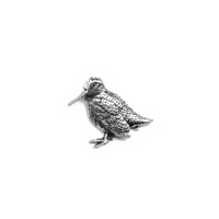 A R Brown Standing Woodcock Pewter Pin Badge