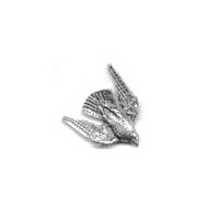 A R Brown Stooping Falcon Pewter Pin Badge