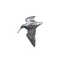 Image of A R Brown Woodcock Pewter Pin Badge