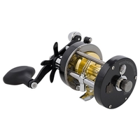 Abu Garcia Ambassadeur 7000 CS Pro Rocket Level Wind Multiplier Reel - Black Edition - Right-Handed