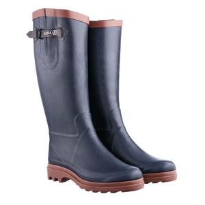 Image of Aigle Aiglentine Fur Wellington Boots (Women's) - Marine