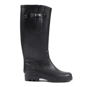 Image of Aigle Aiglentine Fur Wellington Boots (Women's) - Black