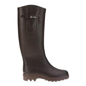 Image of Aigle Aiglentine Wellington Boots (Women's) - Brown