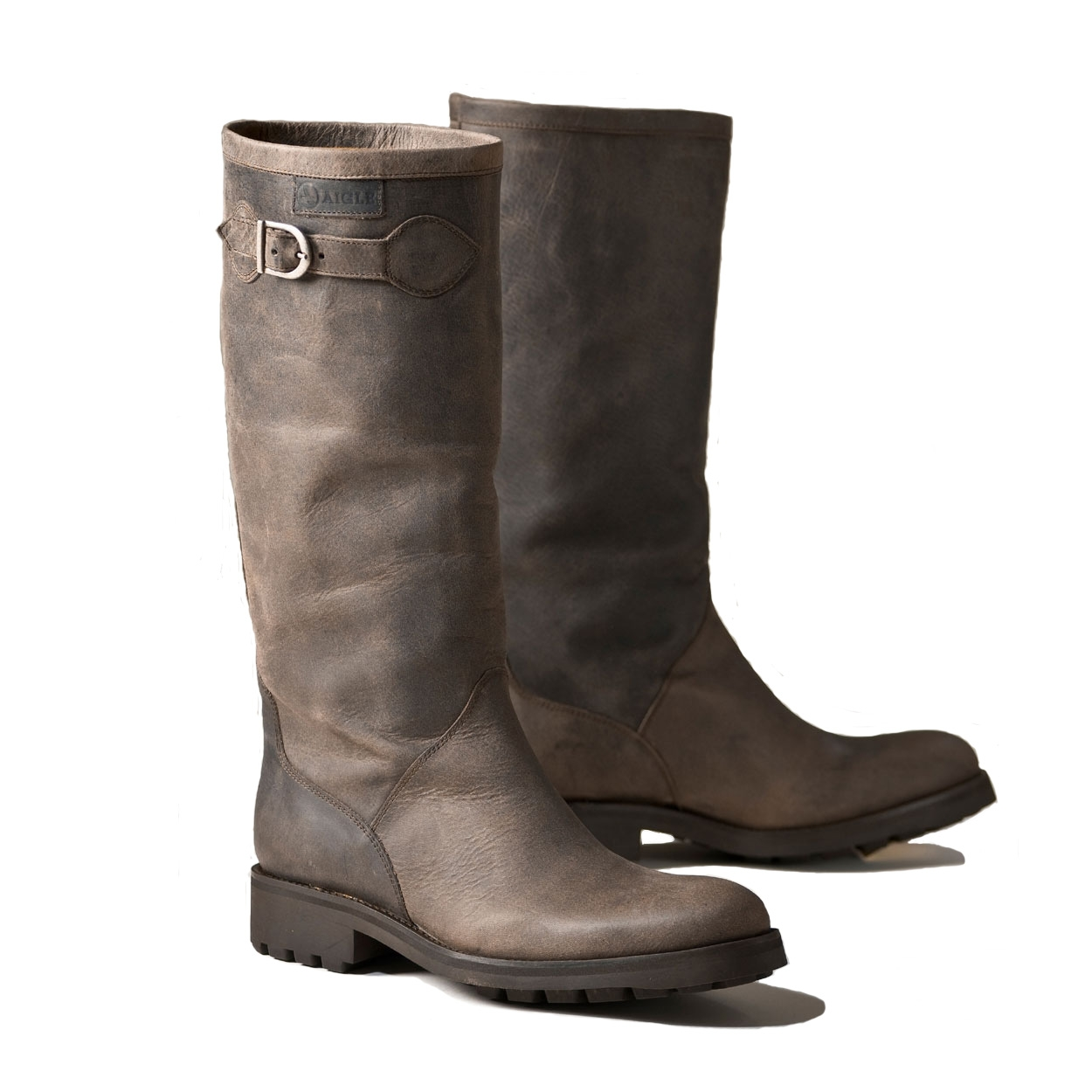 bd285cc8bd45 Image of Aigle Chantebelle Suede Leather Boot (Women s) - Dark Brown