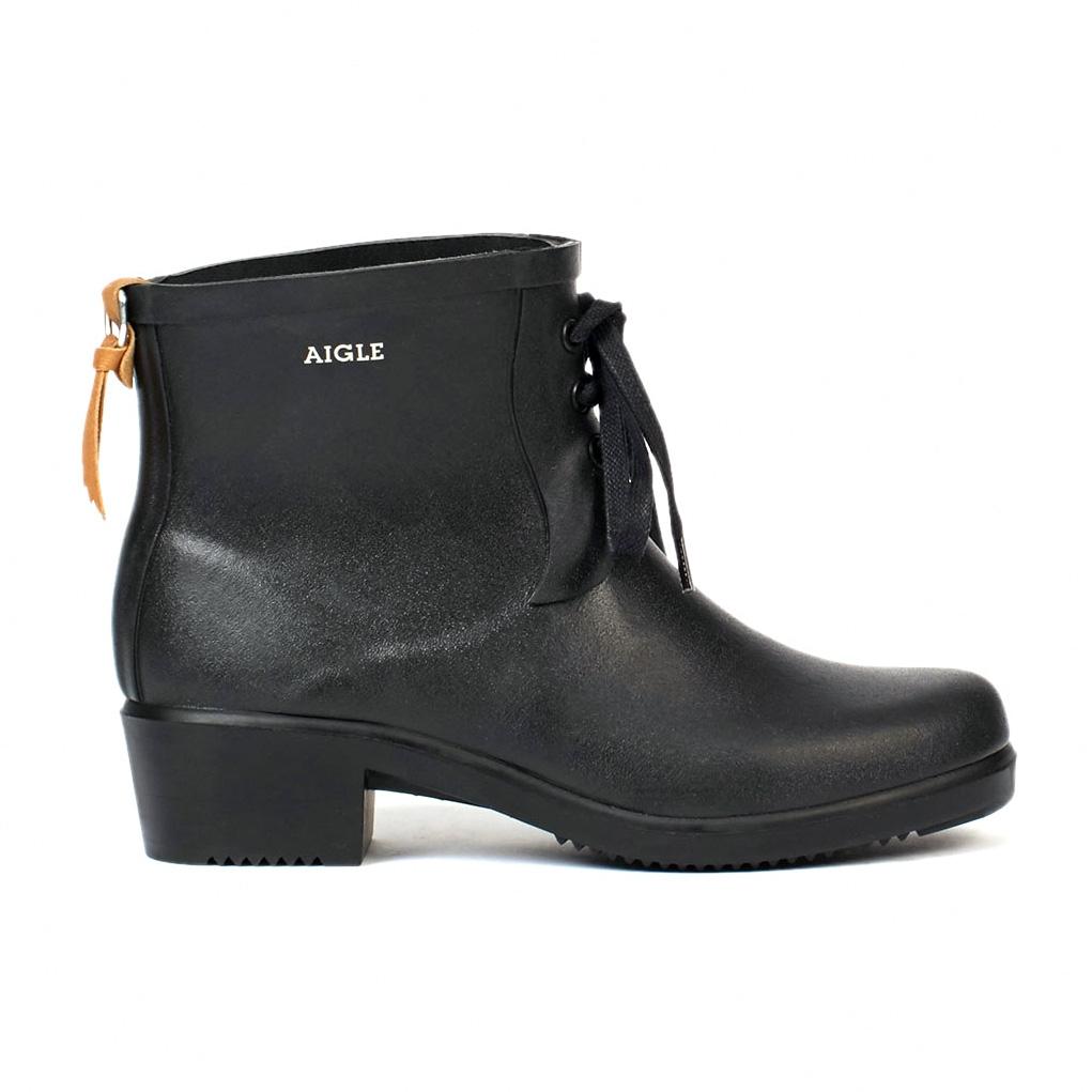 4bfd04d6ab821 Image of Aigle Miss Juliette Bottillon Lace Ankle Boots (Women s) - Noir