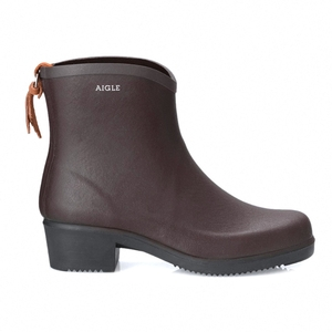 Image of Aigle Miss Juliette Bottillon Ankle Boots (Women's) - Brun