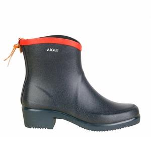 Image of Aigle Miss Juliette Bottillon Ankle Boots (Women's) - Marine/Rouge