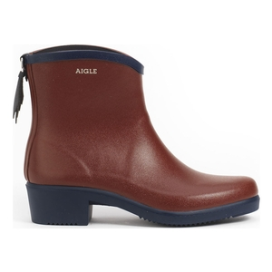 Image of Aigle Miss Juliette Bottillon Ankle Boots (Women's) - Auburn/Indigo
