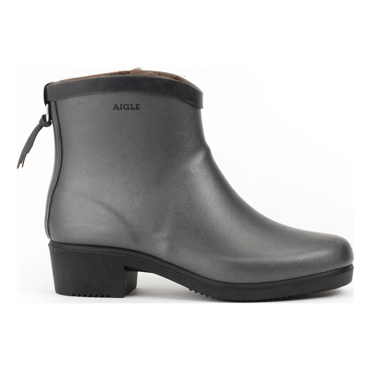 b62bd265b4ac4 Image of Aigle Miss Juliette Bottillon Fur Ankle Boots (Women s) - Metallic