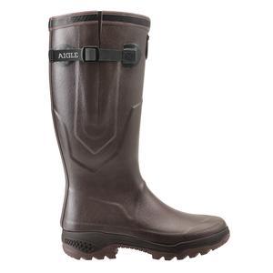 Image of Aigle Parcours 2 ISO Wellington Boots (Unisex) - Brun (Brown)
