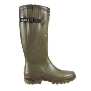 Image of Aigle Parcours 2 ISO Wellington Boots (Unisex) - Khaki (Green)