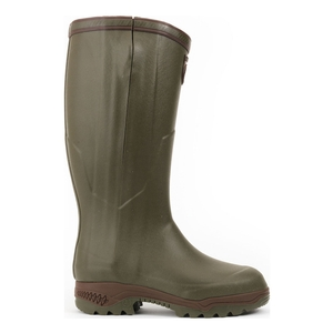 Image of Aigle Parcours 2 ISO Open Wellington Boots (Unisex) - Khaki (Green)