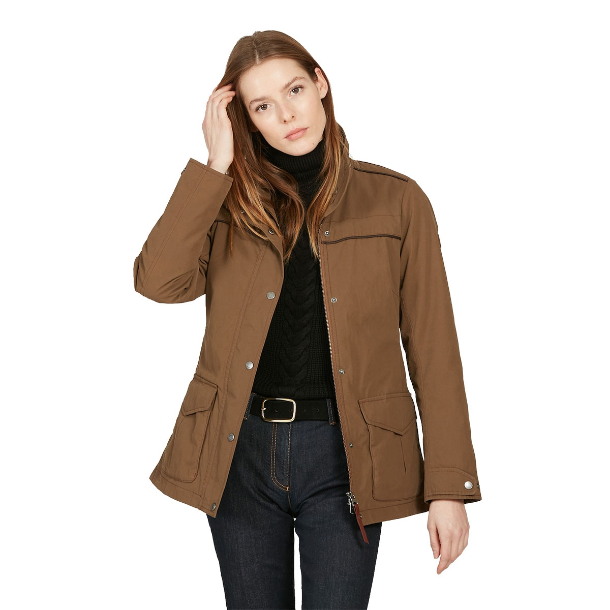 Image of Aigle Parcours Lady Parka Jacket (Women s) - Brown ... 1c51dfe7c3