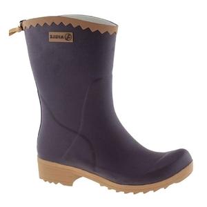 Image of Aigle Victorine Ankle Wellington Boots (Women's) - Aubergine