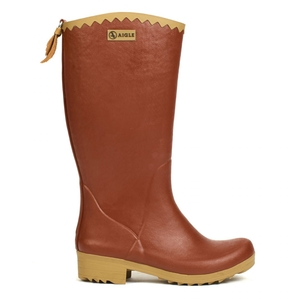 Image of Aigle Victorine Fur Wellington Boots (Women's) - Imperial