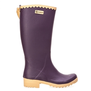 Image of Aigle Victorine Wellington Boots (Women's) - Aubergine/N