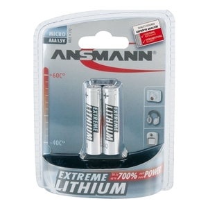 Image of Ansmann 2 x AAA Size - Extremme Lithium Non Rechargable Batteries