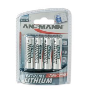 Image of Ansmann 4 x AA Size  - Extremme Lithium Non Rechargable Batteries