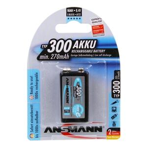 Image of Ansmann 9V E-Block - 1 x 250 mAh - Max e NiHM Rechargeable Batteries