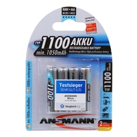 Ansmann AAA Size - 4 x 1100 mAh - Digital NiMH Rechargeable Batteries