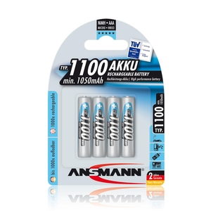 Image of Ansmann AAA Size - 4 x 1100 mAh - Digital NiMH Rechargeable Batteries