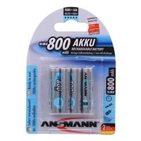 Ansmann AAA Size - 4 x 800 mAh - Max e NiMH Rechargeable Batteries
