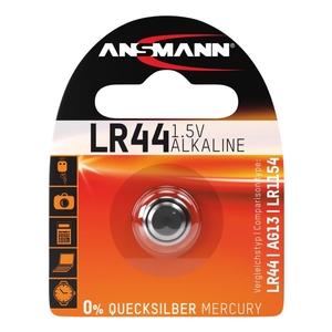 Image of Ansmann LR44 - 1x Alkaline 1.5V Coin Battery