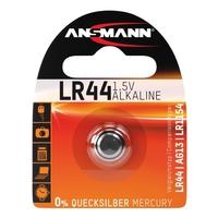 Ansmann LR44 - 1x Alkaline 1.5V Coin Battery