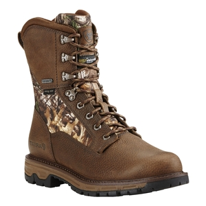 Image of Ariat Conquest Round Toe 8 Inch GTX Walking Boot (Men's) - Pebbled Brown with Camo