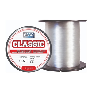Image of Asso Classic Mainline - 4oz Spool - Clear