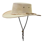 Barmah Drover Canvas Hat With Mesh Sides