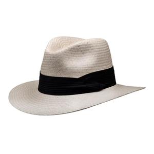 Image of Barmah Fedora Style Safari Fine Raffia Hat - Natural