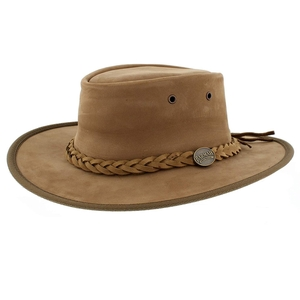 Image of Barmah Foldaway Bronco - Fullgrain Leather Hat - Hickory