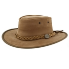 Barmah Foldaway Bronco - Fullgrain Leather Hat