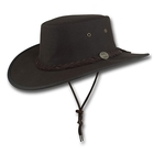 Barmah Oilskin Foldaway WP Oiled Cotton Hat