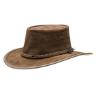 Image of Barmah Squashy Cow Suede Hat - Hickory