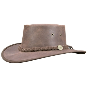 Image of Barmah Squashy Oiled - Oiled Suede Leather Hat - Dark Brown