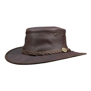 Image of Barmah Sundowner Roo - Kangaroo Hide Hat - Dark Brown