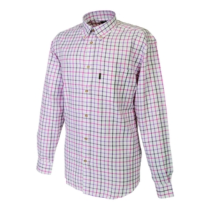 Image of Beretta Classic Shirt - White/Pink/Lilac Check