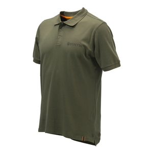 Image of Beretta Corporate Striped Polo Shirt - Green