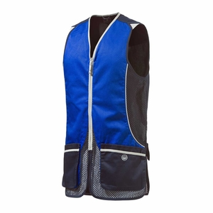 Image of Beretta Mens Silver Pigeon Vest - Navy / Blue Xcell