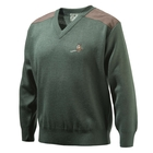 Image of Beretta Pheasant V Neck Sweater - Green