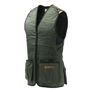 Image of Beretta Trap Cotton Vest - Green/Black